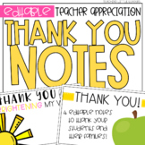 Teacher Appreciation Thank You Notes Freebie