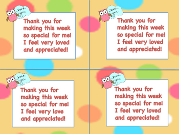 Teacher Appreciation Thank You Notes to Students From Teacher | TpT