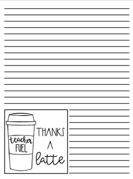 Teacher Appreciation Thank You Notes with directions for Printing FREEBIE