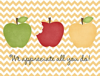 Teacher Appreciation / We Appreciate You