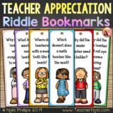 Teacher Appreciation Week Bookmarks with Silly Joke Riddles