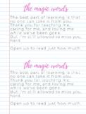 Teacher Appreciation Week Child Quotes to Teacher