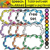 Teacher Appreciation Week - Free Clipart Set - Speech Bubb