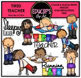 Teacher Appreciation Week - Tired Teacher {Educlips Clipart}
