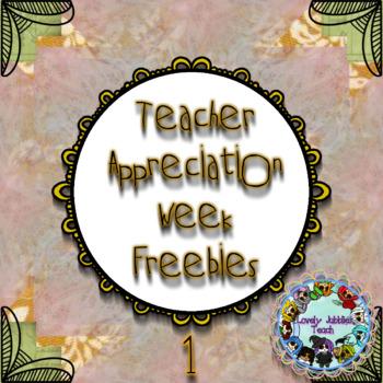 Teacher Appreciation Week: Day 1