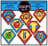 Teacher Appreciation Week - Super Teacher Logos Clip Art {Educlips Clipart}