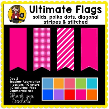 Teacher Appreciation Week - Day 2 | Ultimate Flag BUNDLE {CU}