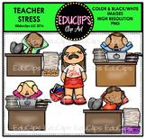 Teacher Appreciation Week - Teacher Stress Clip Art Bundle