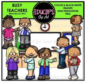 Teacher Appreciation Week - Busy Teachers Clip Art Bundle {Educlips Clipart}