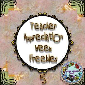 Teacher Appreciation Week: Day 5