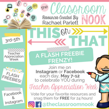 Teacher Appreciation Week FLASH FREEBIE FRENZY!