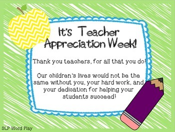 Teacher Appreciation Week {FREEBIE}
