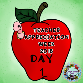 Teacher Appreciation Week Freebie Day 1
