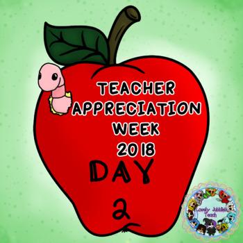 Teacher Appreciation Week Freebie Day 2