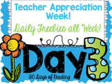 Teacher Appreciation Week Freebie: Day 3