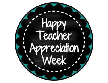 FREEBIE! Teacher Appreciation Week Gift Tag Printables!