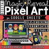 Heroes Digital Pixel Art Magic Reveal ADDITION & SUBTRACTION