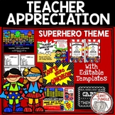 Teacher Appreciation Week Packet  Superhero Theme