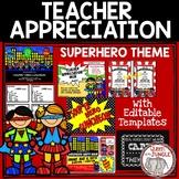 Teacher Appreciation Week | Superhero Theme