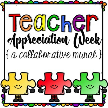 Teacher Appreciation Week Puzzle Pieces