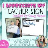 Teacher Appreciation Week Signs *FREEBIE* - May 3rd - May