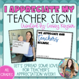 Teacher Appreciation Week Signs *FREEBIE*