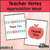 Teacher Thank You Notes FREEBIE