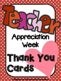 Teacher Appreciation Week Thank You Cards Teacher to Student Student to Teacher