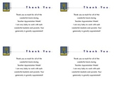 Teacher Appreciation Week Thank You Note