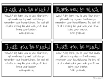 Teacher Appreciation Week Thank You Notes for Students