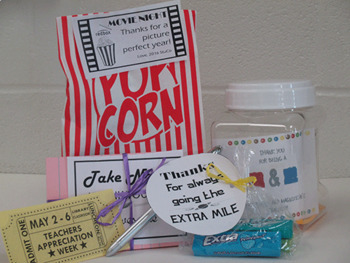 Teacher Appreciation Week gift tags and flyers for a Hollywood Theme!