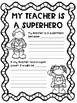 Teacher Appreciation Writing Activities