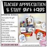 Teacher Appreciation and Staff Gift Tags - GROWING BUNDLE