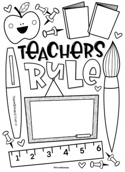 Teacher Appreciation Coloring Pages Worksheets Teaching Resources Tpt