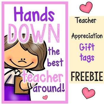 Teacher Appreciation gift tags