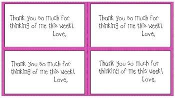 Teacher Appreciation or Last Week of School Thank You note cards.