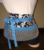 Teacher Apron {Black, White & Aqua}