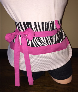 Teacher Apron {Pink Zebra}