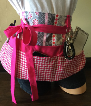 Teacher Apron {Pink and Gray}