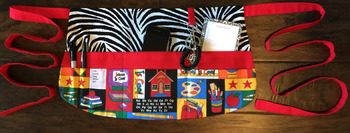 Teacher Apron {Red, Black, and School}