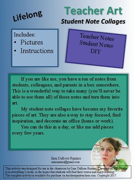 Teacher Art! - Use notes from students to create your own artwork