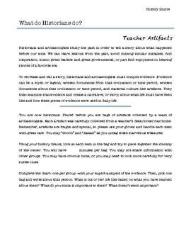 Teacher Artifacts