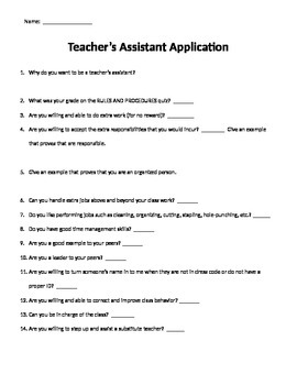 Teacher Assistant Application for Students