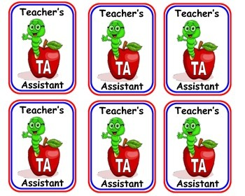 Teacher Assistant Badges