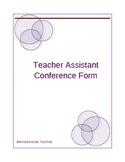 Teacher Assistant Conference Form