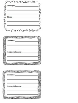 Teacher Assistant Expectations and Comment Card