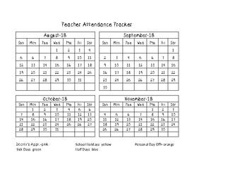 Teacher Attendance Tracker