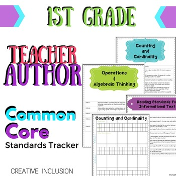 Teacher-Author Common Core Standards Organizer for First Grade