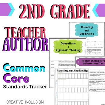 Teacher-Author Common Core Standards Organizer for Second Grade!