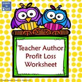 Teacher Author Profit/Loss Balance Sheet
